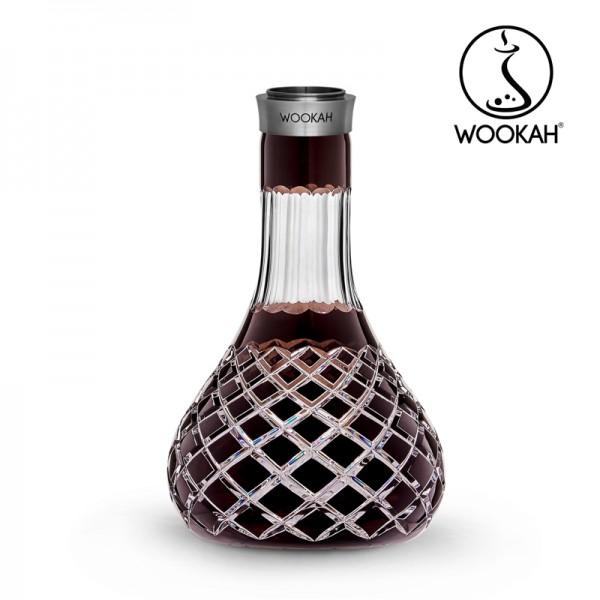 Wookah - Vase - Crystal - Check - Brown