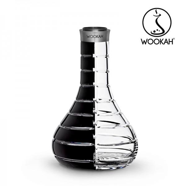 Wookah - Vase - Crystal - Striped - Black - Clear