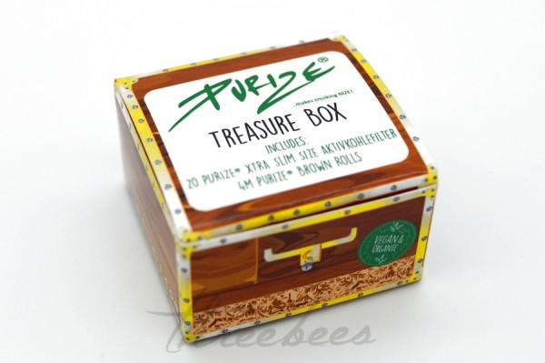 PURIZE Treasure Box Brown Rolls + 20er XTRA Slim Size Filter