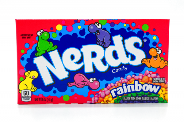 Nerds Candy Rainbow Natural Flavours 141g 12erPack