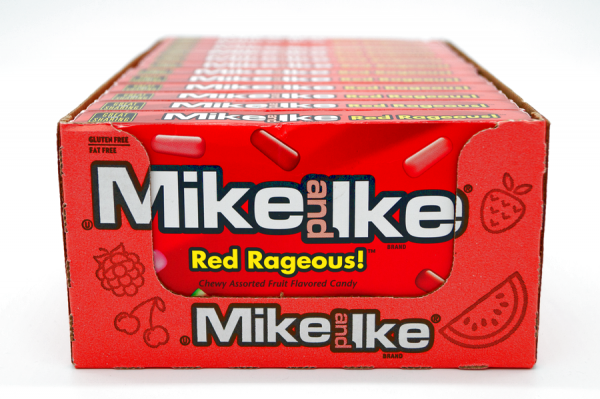 Mike and Ike Red Rageous Chewy 5 Fruit Flavored Candy 141g