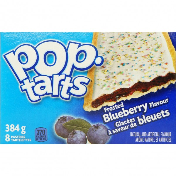 Kellogg`s POP tarts Frosted Blueberry Sensation 8 TOASTER Pasters 384g
