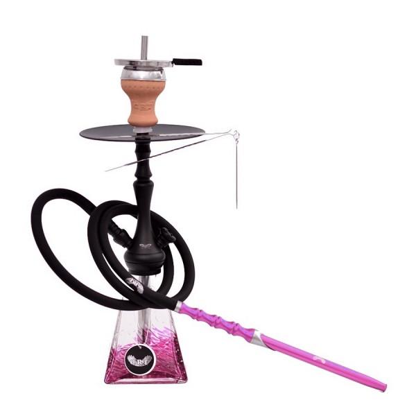 CRT Shisha - Pyro 400 - Matt Black - Pink - 2S - Alu