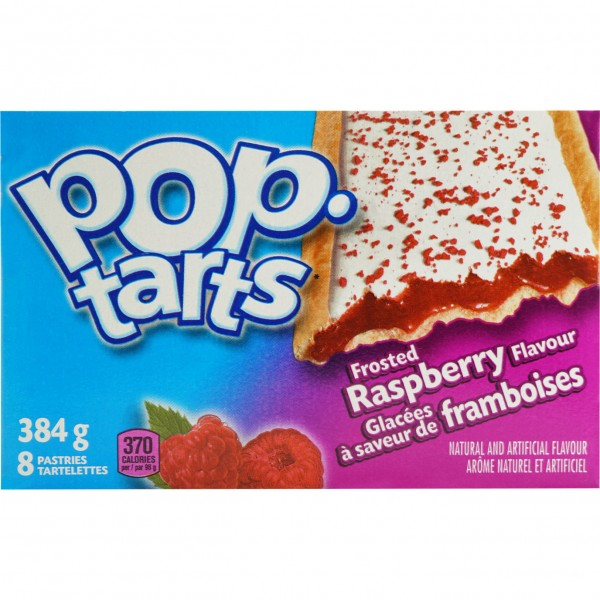 Kellogg`s POP tarts Frosted Raspberry Sensation 8 TOASTER Pasters 384g